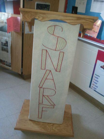 podium with Snarf