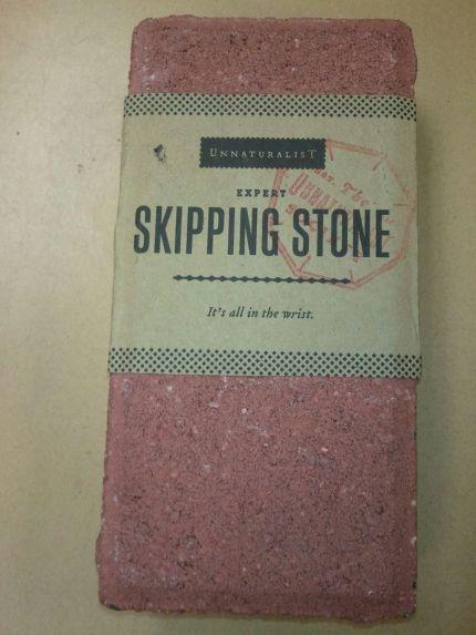 brick skipping stone