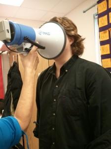megaphone in face jpeg